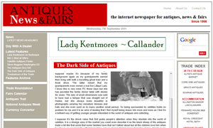 featured on antiques news and fairs
