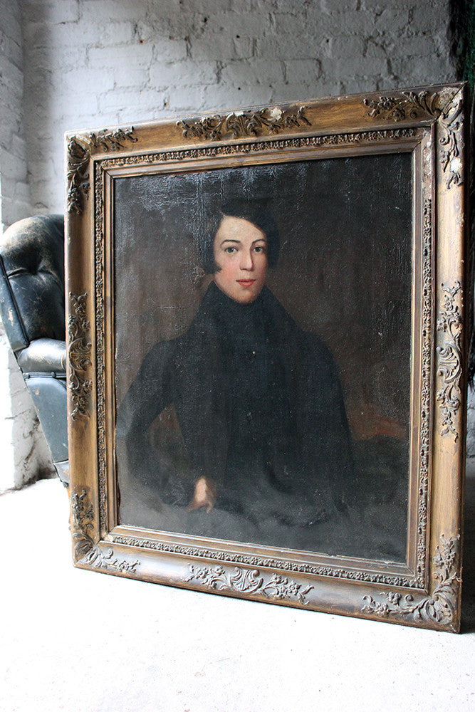 A Good 19thC English School Oil on Canvas Portrait of a Gentleman c.1830-40