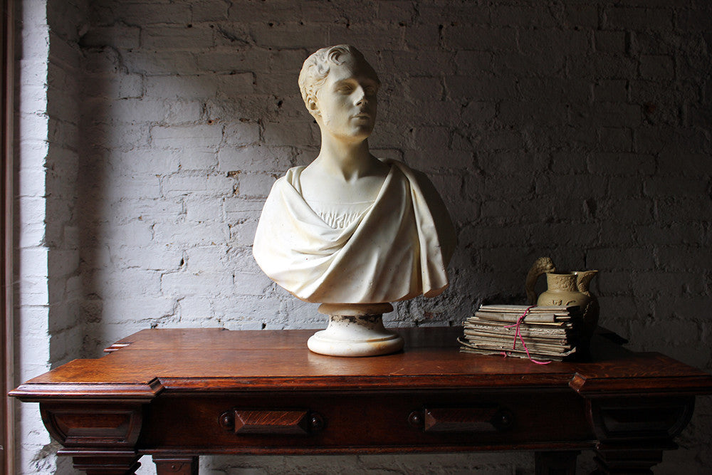 A Very Fine Early Victorian Marble Bust of a Gentleman by Timothy Butler RA c.1841