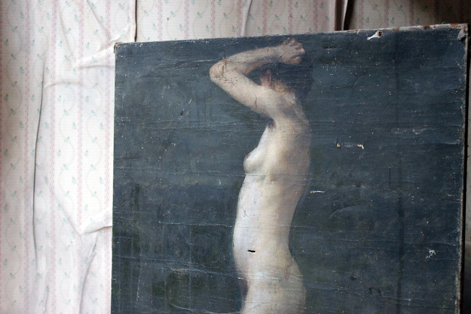 A Late 19thC French School Oil on Canvas Study of a Nude Lady by B.Barnet 1893