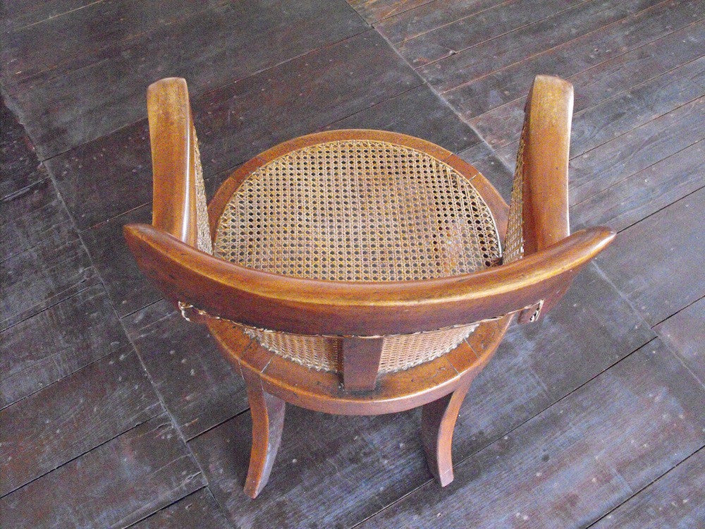 A Twentieth Century Beech & Cane Desk Chair