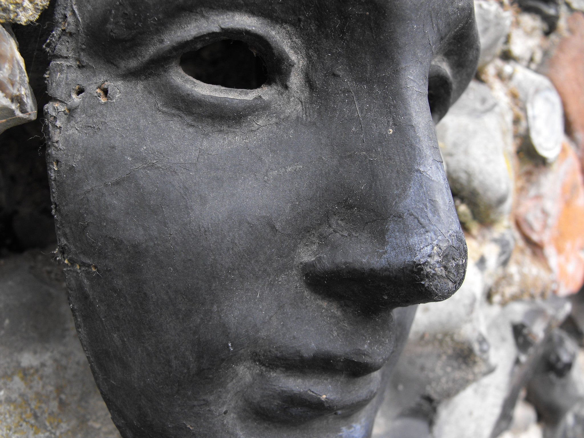 A 19thC Regency Period Papier-Mâché 'Hero' Neutral Theatrical Mask