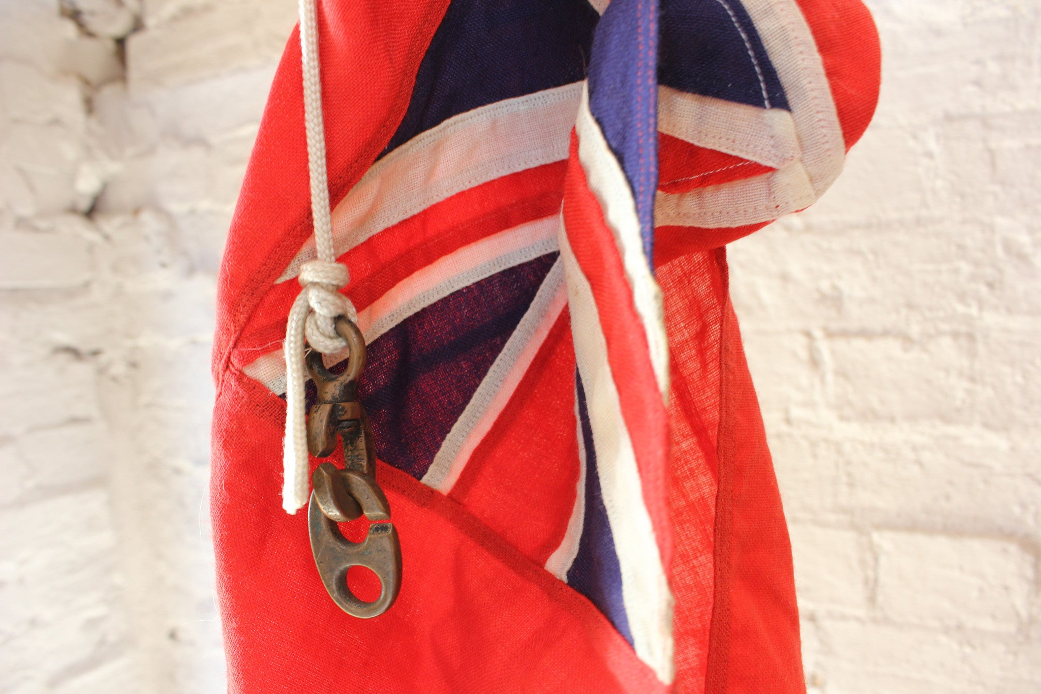A Fine Quality British Antique Royal Navy Red Ensign Flag c.1920