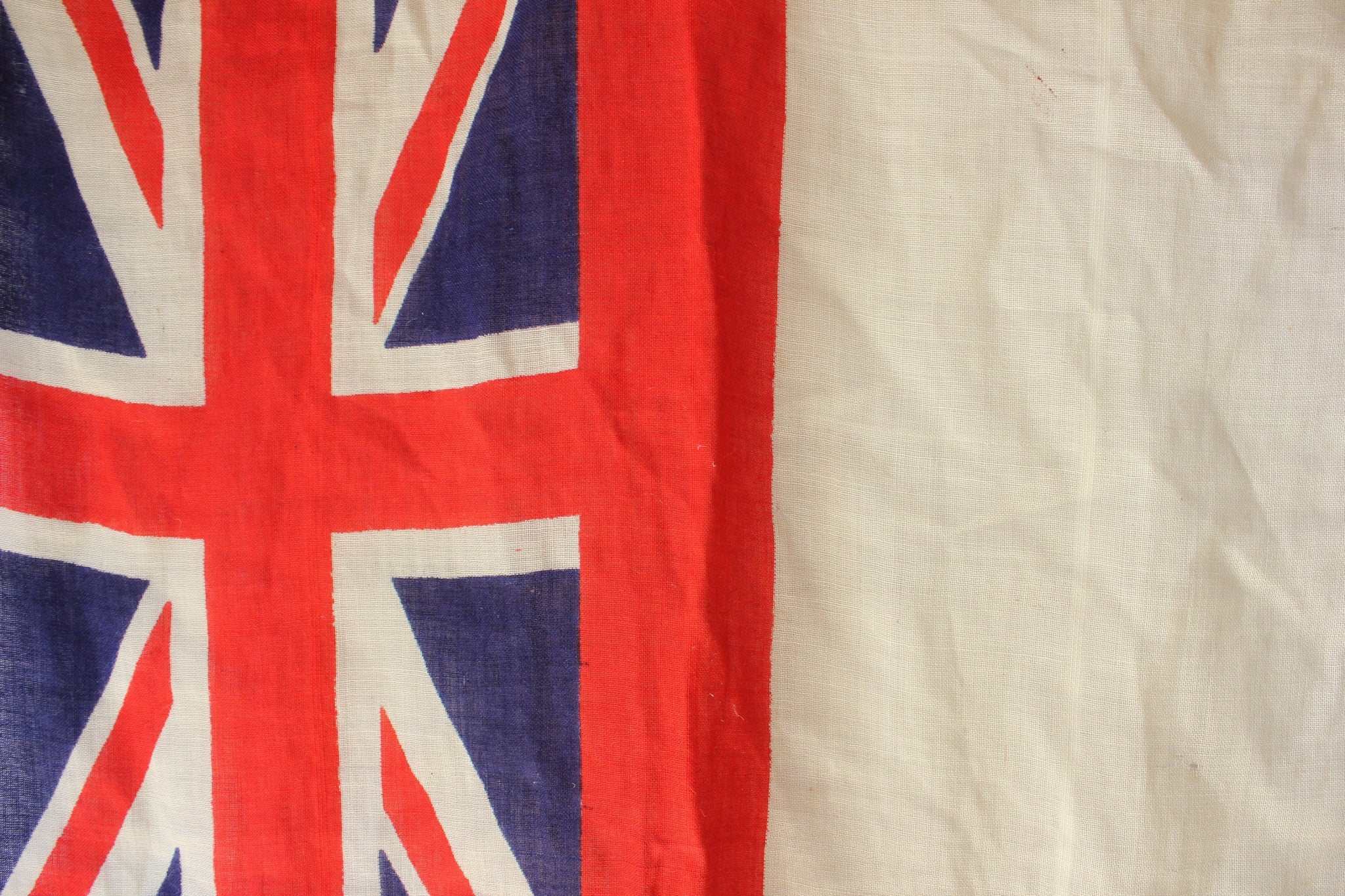 A Medium Sized British Antique Royal Navy White Ensign Flag c.1930