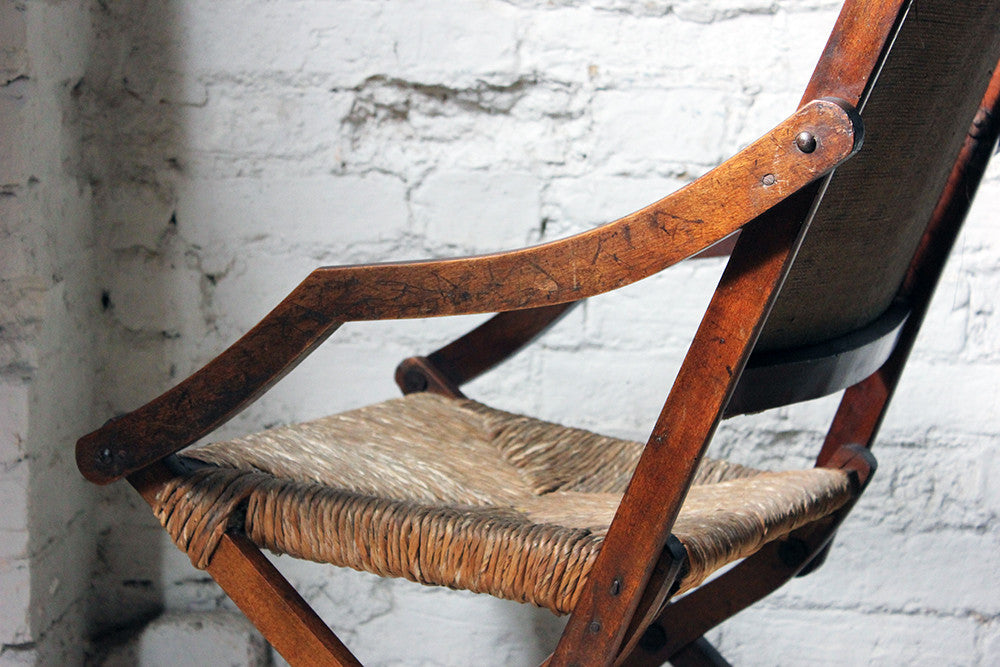 A Charming c.1900 Arts & Crafts Period Oak Open Armchair