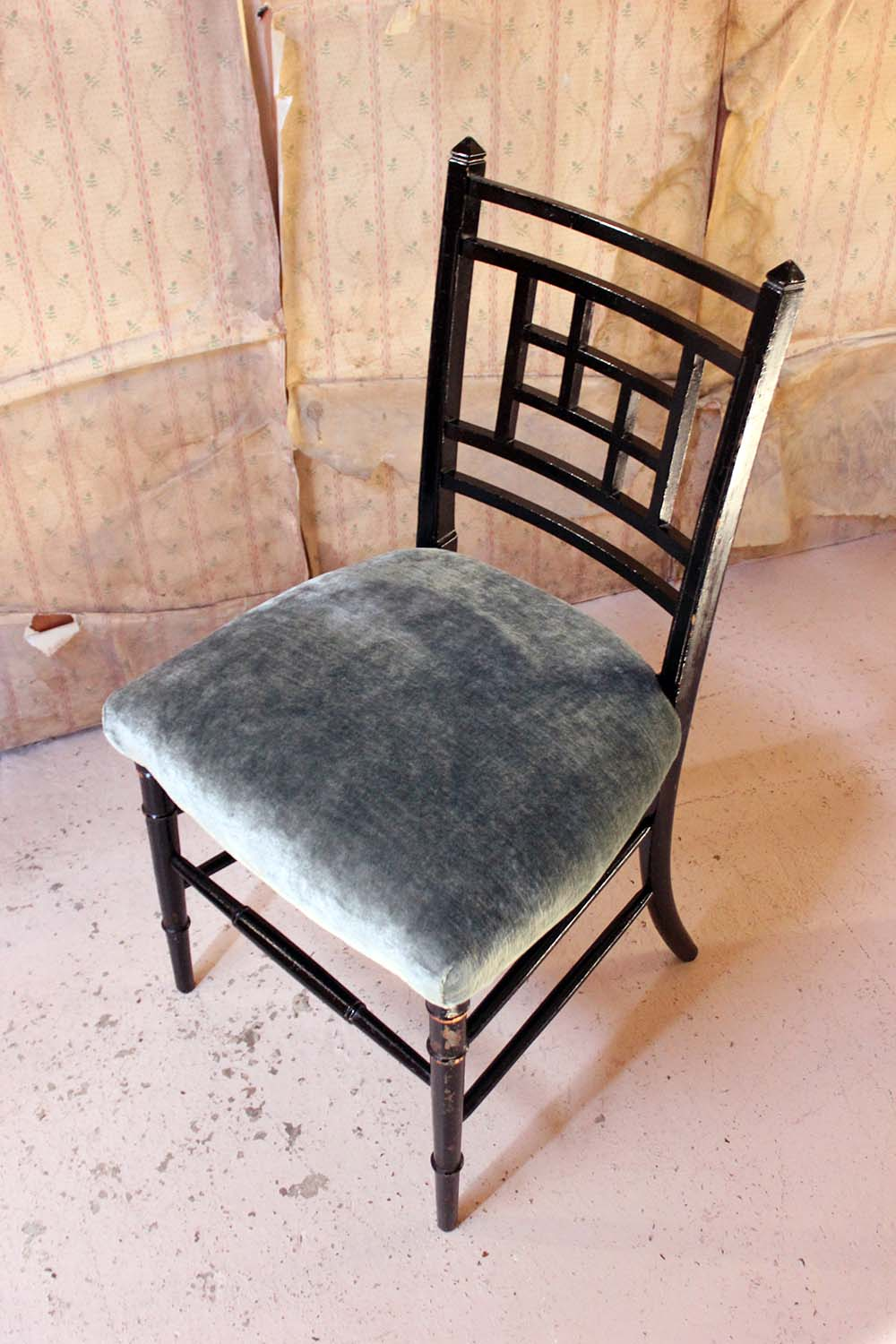 An Aesthetic Movement Ebonised Side Chair in the Manner of E.W. Godwin c.1875-85