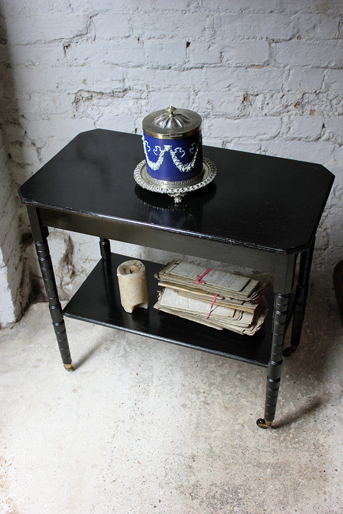 An Attractive c.1870 Aesthetic Movement Ebonised Two-Tiered Side Table
