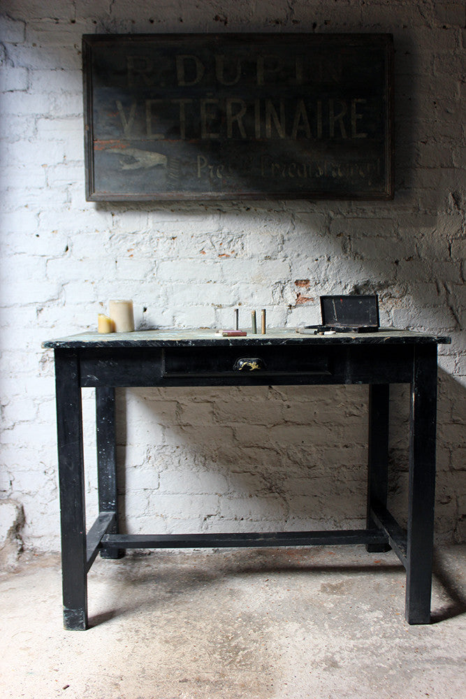 A Fantastic French Early 20thC Painted Pine Artist's Studio Table c.1900-20