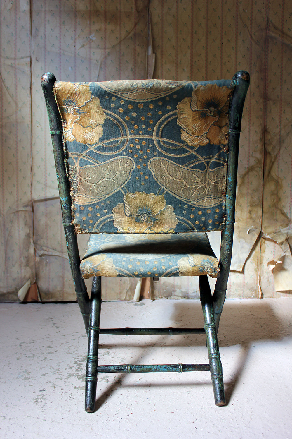 A Rare Regency Period Faux Bamboo Folding Campaign Chair c.1815
