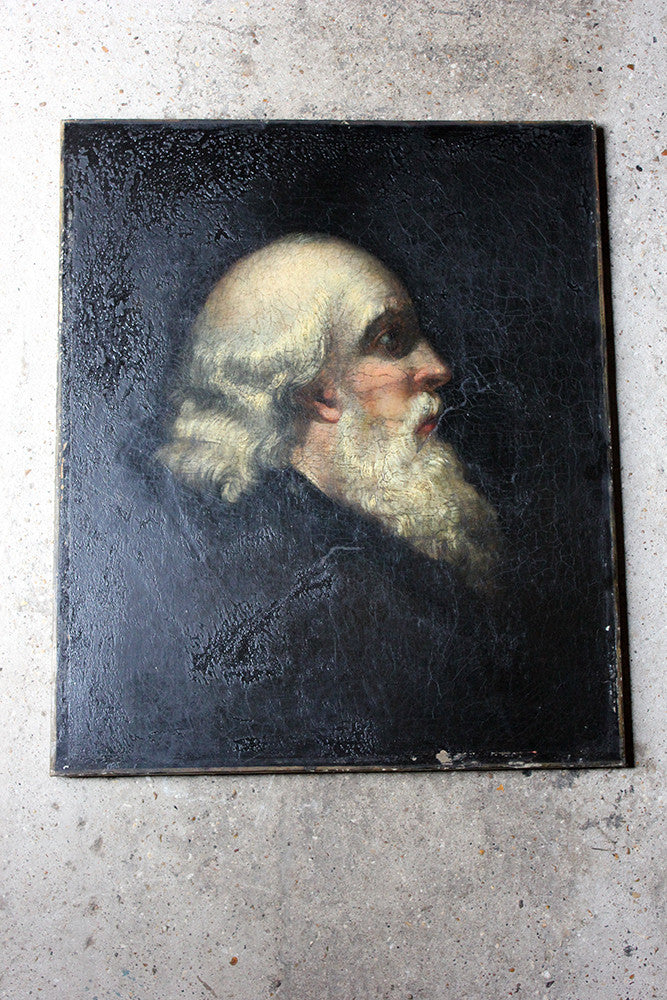 A Good Early 19thC European School Oil on Canvas Portrait of a Bearded Gentleman