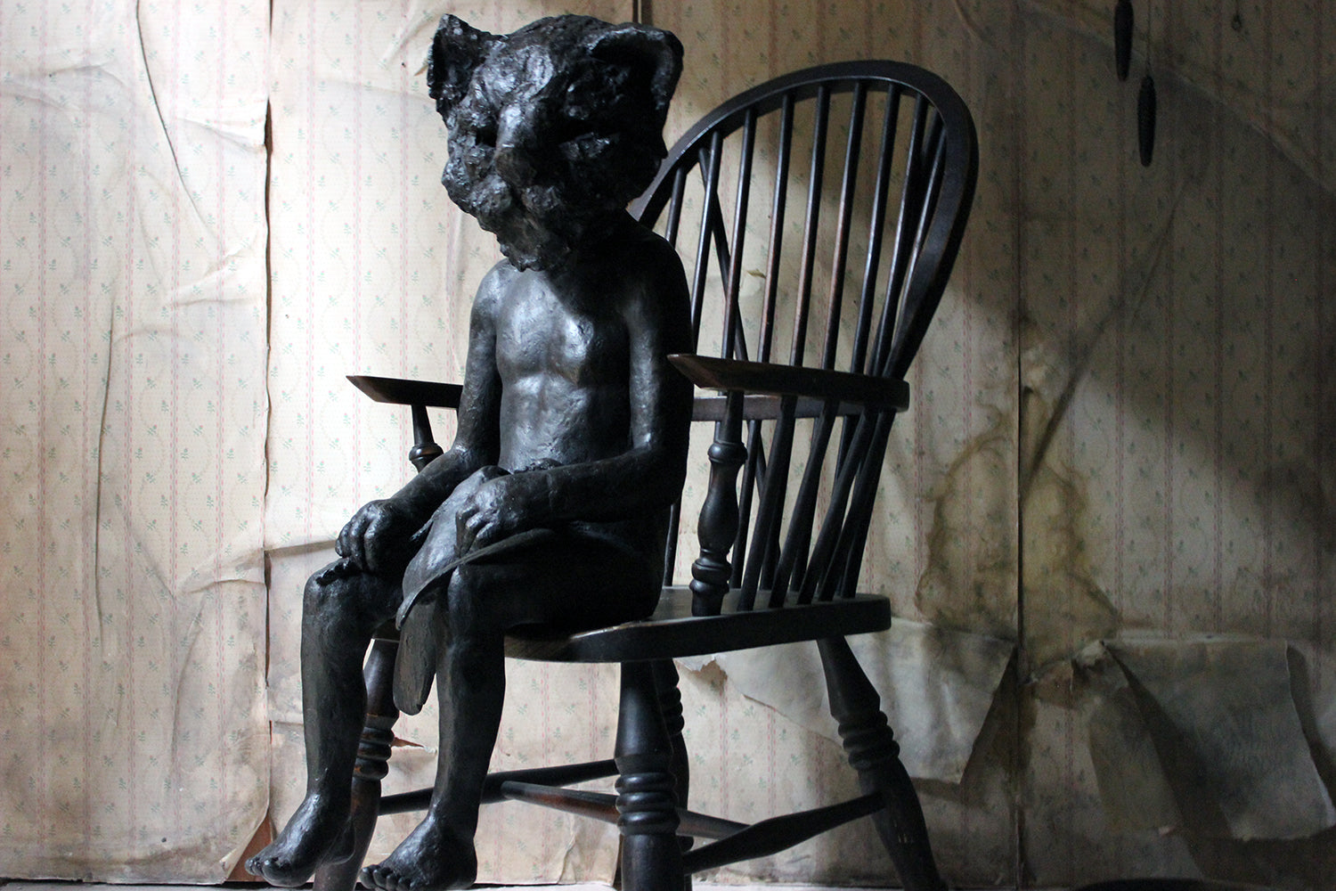 Beth Carter; Cat & Pigeon; Bronze Resin; AP 1 of 2