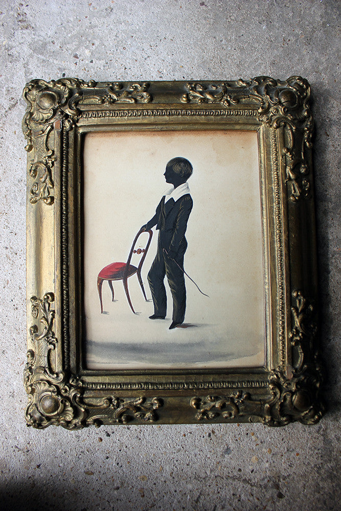 A Charming Regency Period English Silhouette of a Boy c.1825
