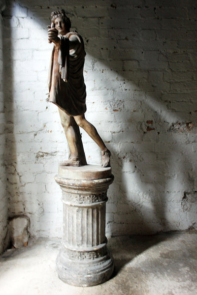 A Very Fine Early 20thc Plaster Figure Of The Apollo