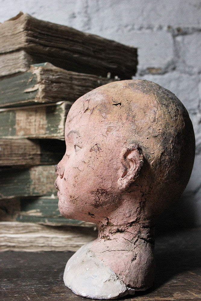 A Decorative Early 20thC Artist's Studio Portrait Mannequin Head of a Child