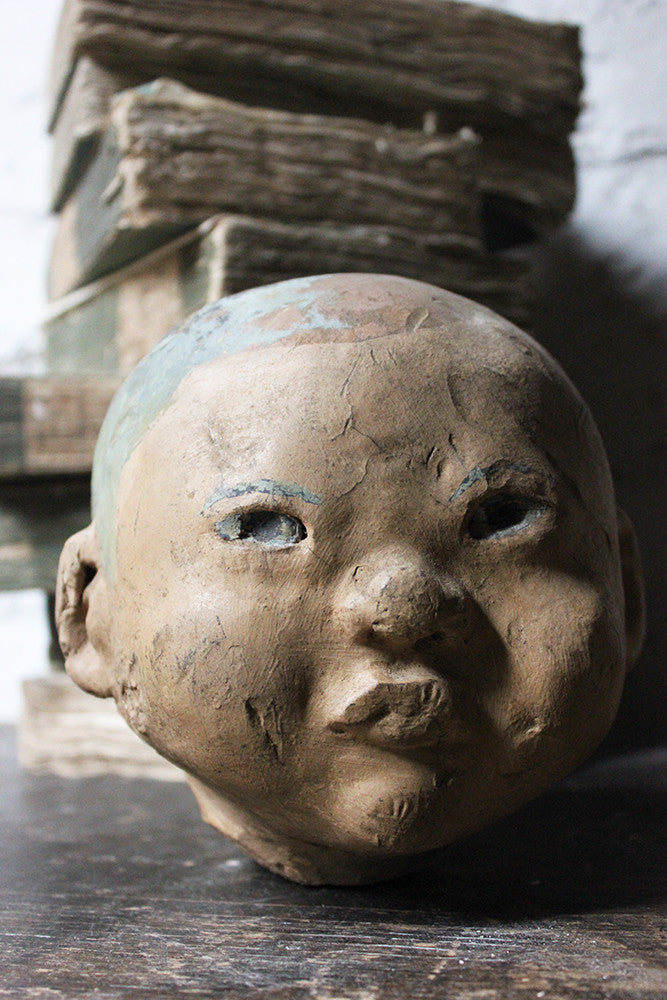 A Good Early 20thC Artist's Studio Portrait Mannequin Head of an Oriental Child