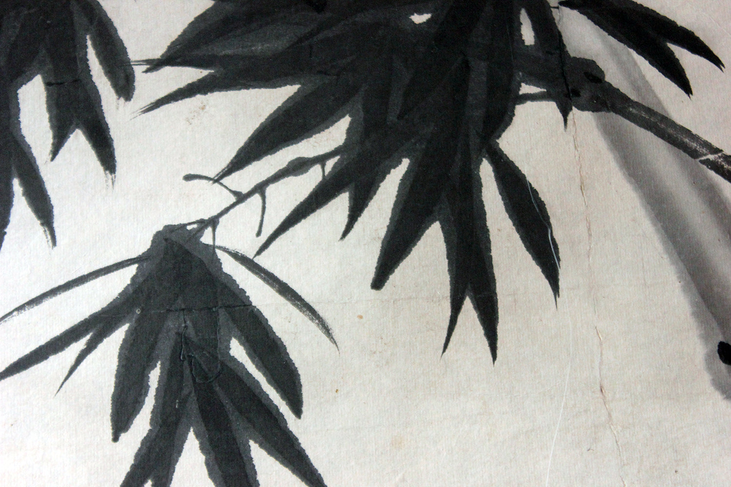 After 董其昌 Dong Qichang; A Very Large Chinese Ink Painting of Bamboo c.1920-40