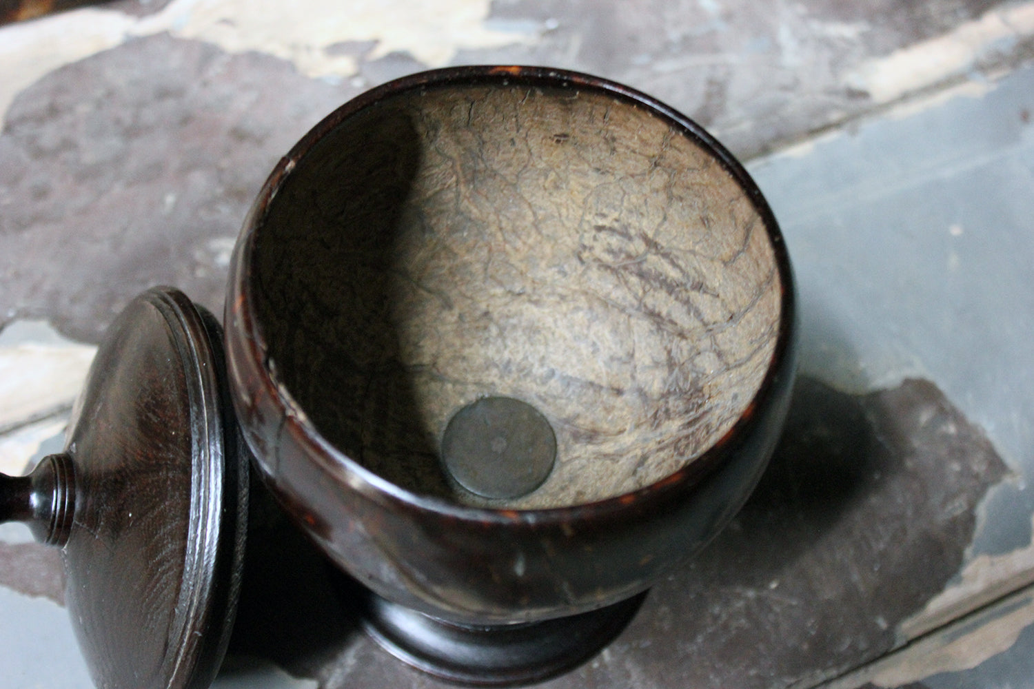 An Early 19thC Coconut Cup & Cover c.1800