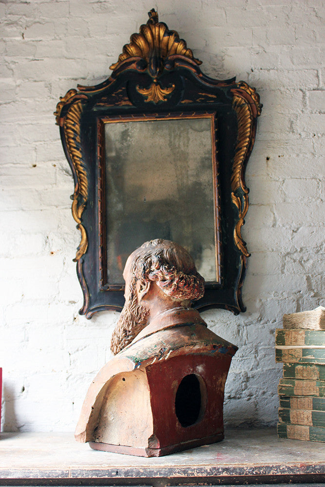 A Decorative Mid-Victorian Terracotta Bust of a Bearded Gentleman Signed 'A.COKE 1871'