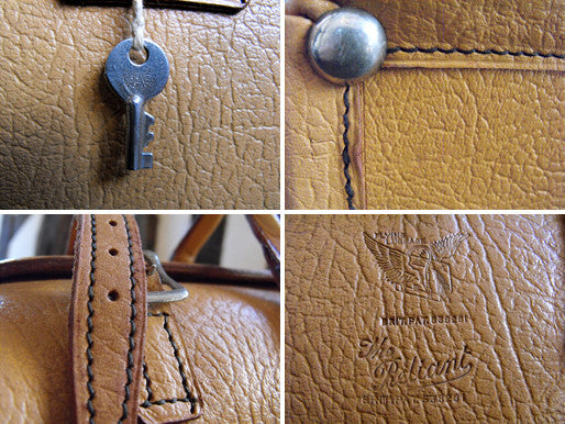The Reliant; a Vintage 1960s Tan Leather Flight Bag