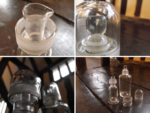 Two Late 19thC Glass Apothecary Bottles to Include one Flask