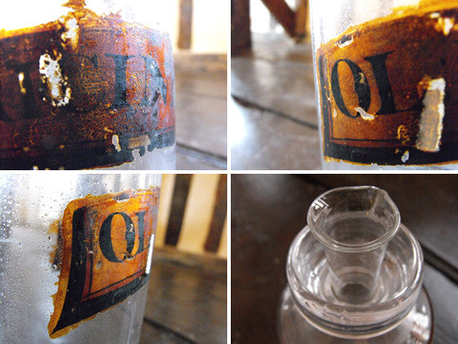 A Late 19thC Glass Apothecary Bottle with Spout for Dilute Castor Oil