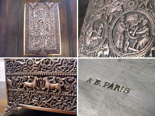 A Finely Detailed & Ornate French Silver Plated Jewellery Casket