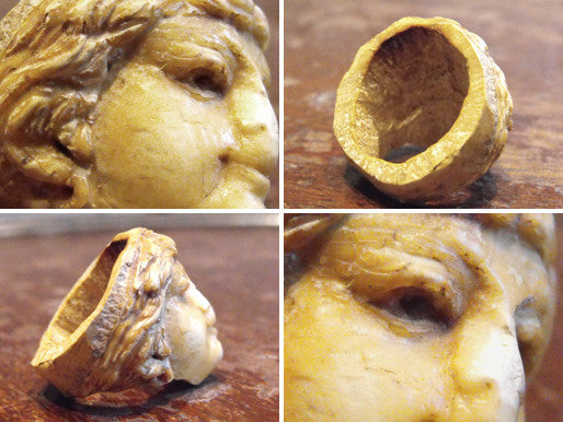 An Enchanting Meerschaum Ring, formed as a Cherub