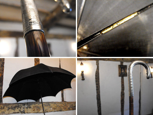 "A Silver Handled ""Paragon"" Parasol Umbrella Hallmarked for D&C, London 1912, by S. Fox & Co"