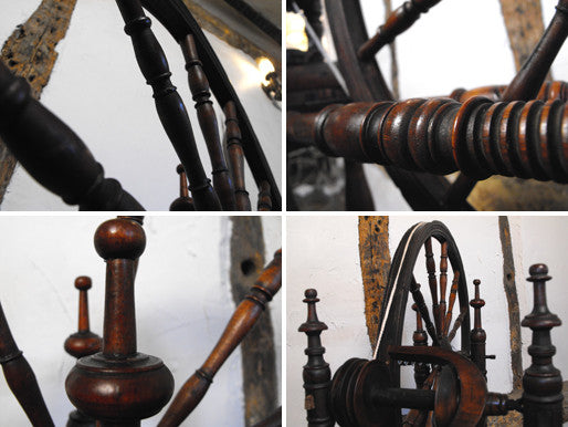 A Captivating 19th Century Operational Scandinavian Spinning Wheel