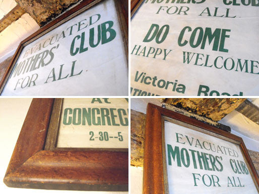 A Rare Framed Vintage World War II poster for the Cambridge 'Evacuated Mother's Club'
