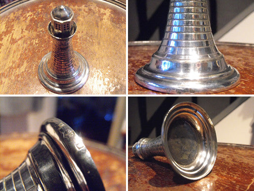 An Unusual Late 19thC Elkington Silver Plate Novelty Pepperette Formed as a Lighthouse