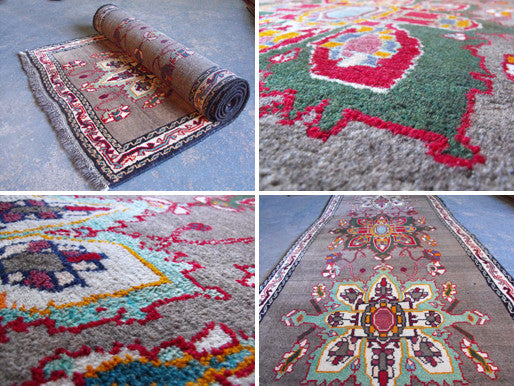 A Colourful Semi Old Persian Goravan Runner 270cm x 90cm