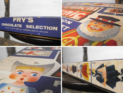 A Delightful Vintage Fry's Chocolate Selection & National Costume Card Set Box