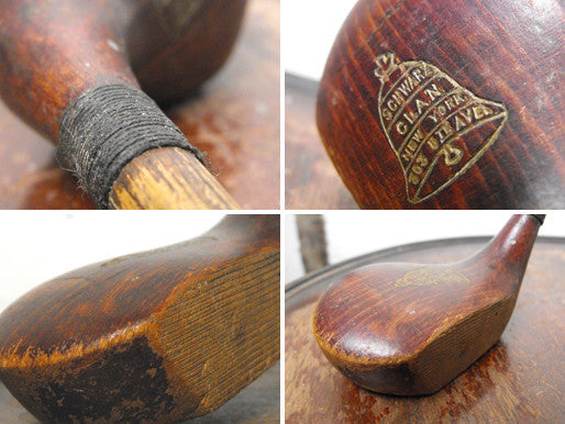 Schwarz Clan New York 303 5th Avenue: An Early 20thC Child's Golf Club Wood with Hickory Shaft