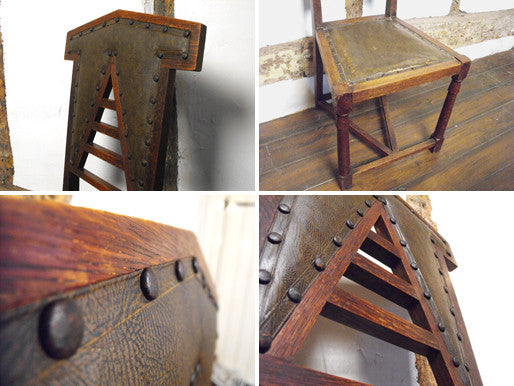 A Distinctive 19th Century Arts & Crafts Oak Hall Chair