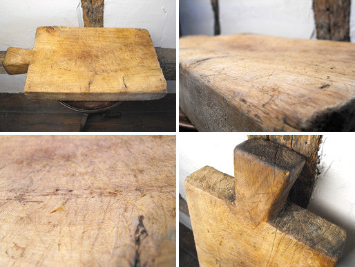 A Large Rustic 19thC Country Pine Chopping Board