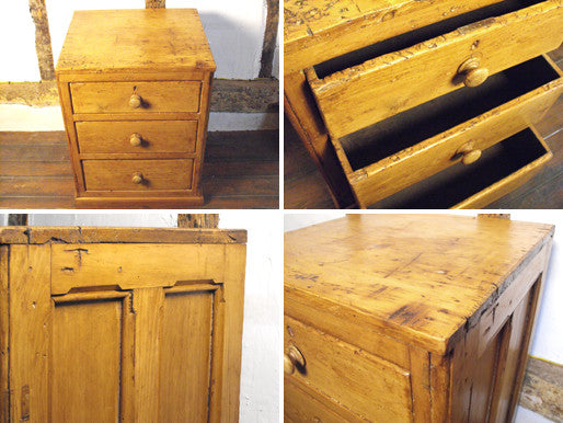 A Compact Victorian Antique Country Pine Chest of Drawers