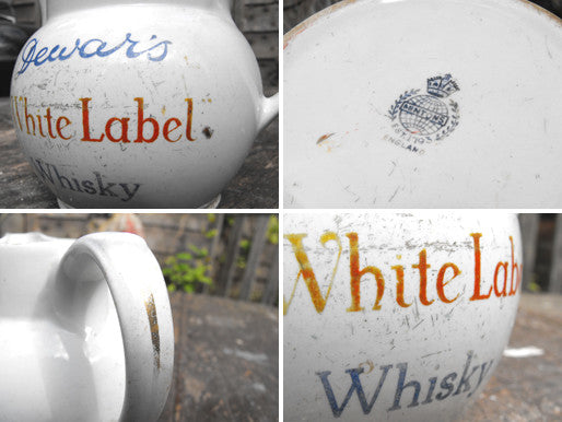 An Early 20thC Minton Pottery Whisky Jug for Dewar`s White Label