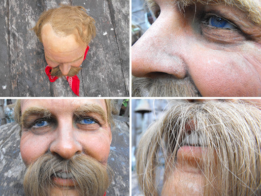 A Peculiar Vintage Madame Tussauds Waxwork Head of Jimmy Edwards