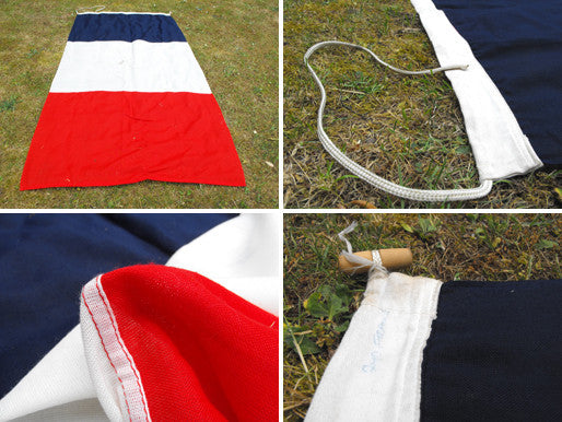 A Quality Large Vintage Cloth Drapeau Tricolore French Flag