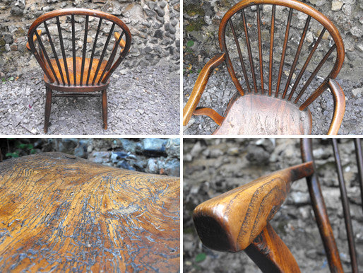 A Pretty Early Victorian Ash & Elm Child's Windsor Chair