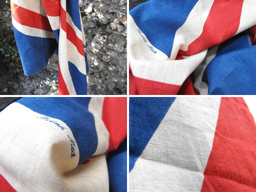 A Large British Vintage Printed Union Jack Flag