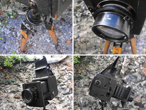 An Evocative Early 20thC British Army Tripod Plate Camera