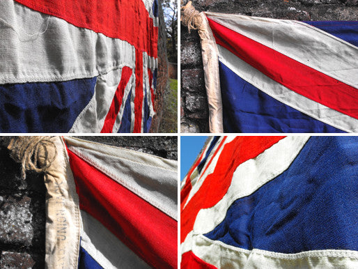 A Heavy Quality Large Vintage Applique WWII Period Union Jack Flag