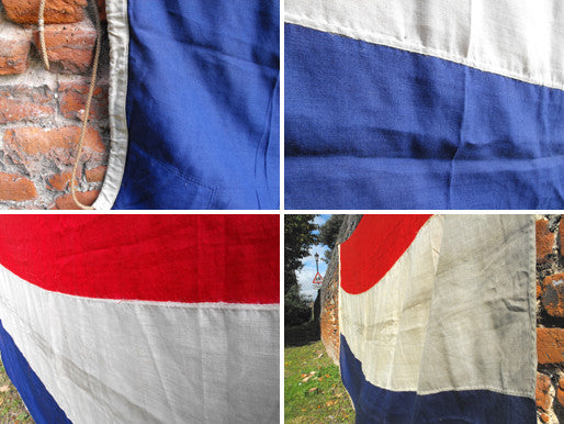 A Very Large Heavy Quality Vintage Applique WWII Period Netherlands Flag