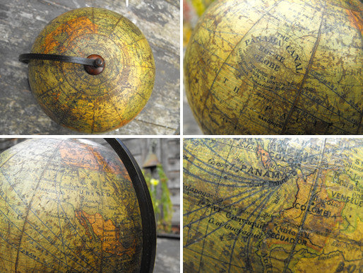 "A Fine Early 20thC 6"" Terrestrial Table Globe 'The Panama Canal Route Globe', Published by George Philip & Son Ltd, London"