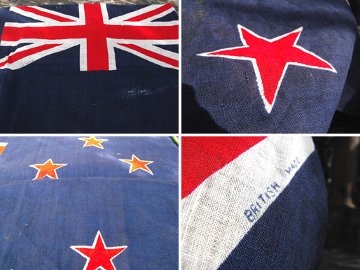 A Good Soft Cotton Vintage Printed Flag of New Zealand