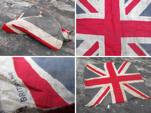 A Small Soft Cotton British Antique Printed Union Jack Flag
