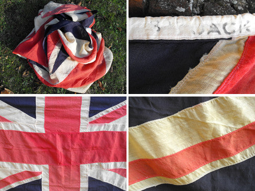 A Very Large Quality Vintage Applique WWII Period Union Jack Flag