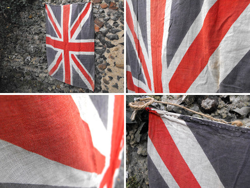 A Lovely Soft Cotton WWII Period British Vintage Printed Union Jack Flag